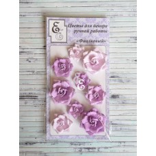 """Декоративные бумажные цветы """"Фиалковый"""" для скрапбукинга и декора"""