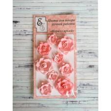 """Декоративные бумажные цветы """"Коралл яркий"""" для скрапбукинга и декора"""