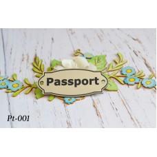 """Пластиковая табличка (шильд) """"Passport"""" PT-001"""