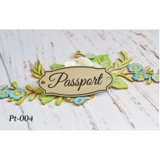 """Пластиковая табличка (шильд) """"Passport"""" PT-004"""