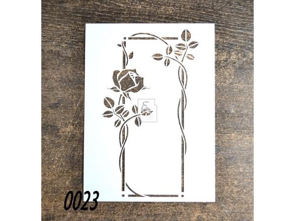 """Цветочный трафарет """"Роза на шпалере"""" #2 для скрапбукинга, декупажа и росписи"""